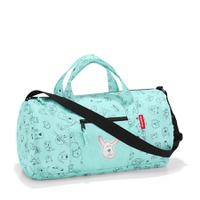 Сумка детская складная dufflebag cats and dogs mint, Reisenthel